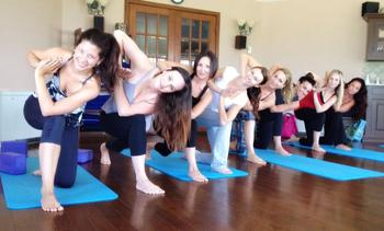 Yoga classes at Ste. Anne's Country Inn.