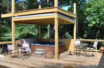 Cabin patio at Berry Creek, LLC.