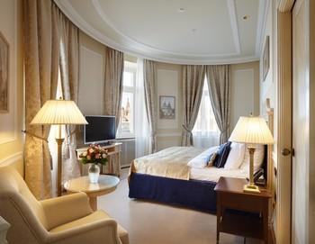 Guest room at Hotel Baltschug Kempinski - Moscow.