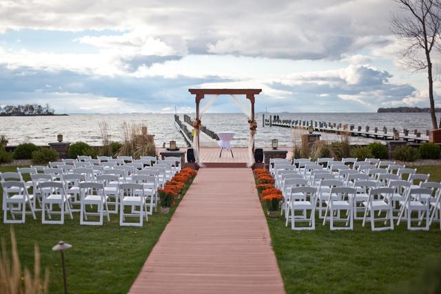 Wedding reception at Appeldoorn's Sunset Bay Resort.