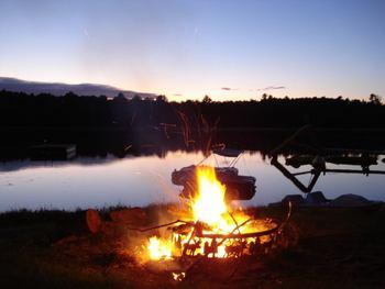 Campfire at Moore Springs Resort.