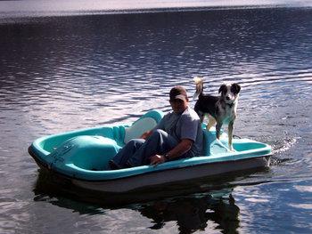 Paddle boat at North Shore Lodge & Resort.