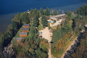 Aerial view of Northridge Inn & Resort.