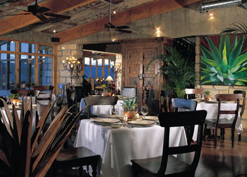 Inside dining at Lajitas Resort.