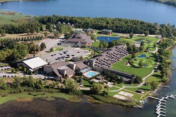 Aerial view of Arrowwood Resort.