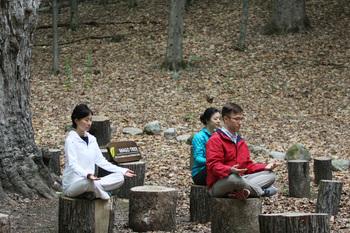 Meditation at Honor's Haven Resort and Spa.