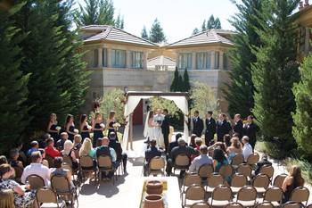 Wedding at Dry Creek Inn Hotel.