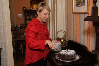 Chocolate cake at Camellia Inn.
