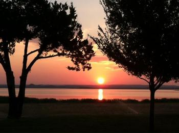 Sunset at Willow Point Resort.