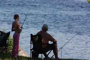 Fishing at Woodland Estate Resort.
