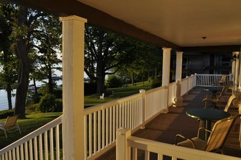 Porch View at Ehrhardt's Waterfront Resort