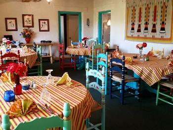 Dining area at Circle Z Ranch.