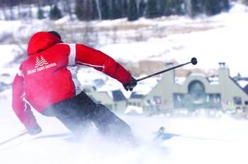 Skiing at Fiddler Lake Resort.