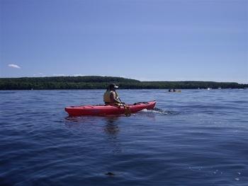 Kayaking at Newport Resort.