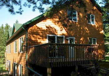 Cabin Exterior at Woodland Beach Resort