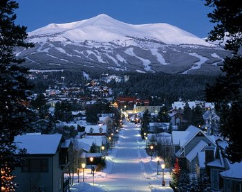 The town of Breckenridge at Breckenridge Discount Lodge.