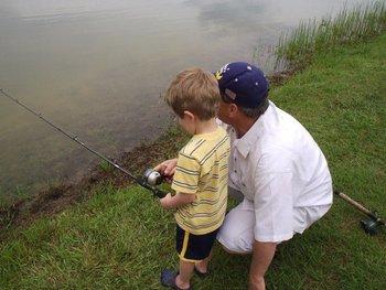 Fishing at Lone Star Yogi.