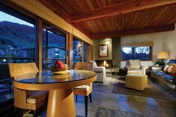 Condo living room at Aspen Square Condominium Hotel.