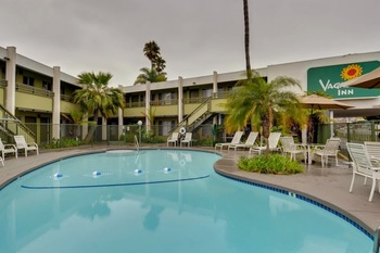 Outdoor pool at Vagabond Inn San Diego Point Loma.