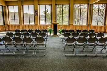 Conference room at YMCA Trout Lodge & Camp Lakewood.