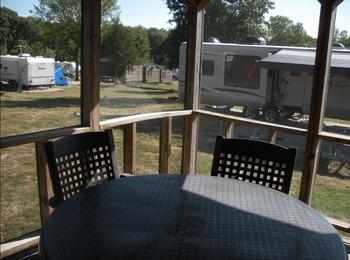 Cabin deck view at Mark Twain Landing.