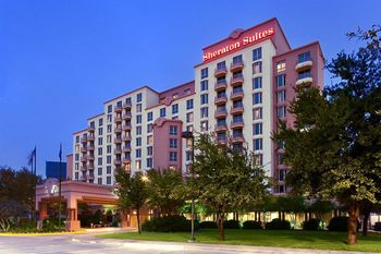 Exterior view of Sheraton Suites Dallas.