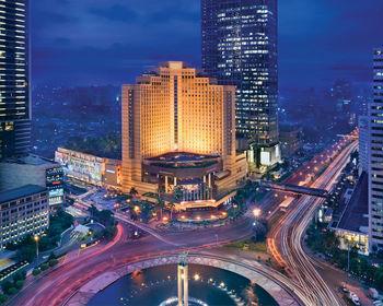 Exterior view of Grand Hyatt Jakarta.