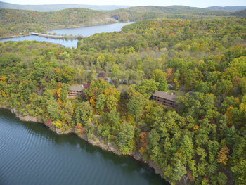 Aerial view of Lake Raystown.