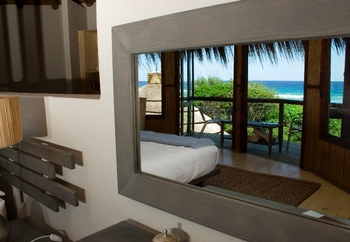 Guest room at Thonga Beach Lodge.