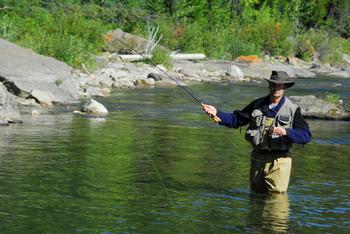 Fishing at Fox Creek Inn Bed & Breakfast.