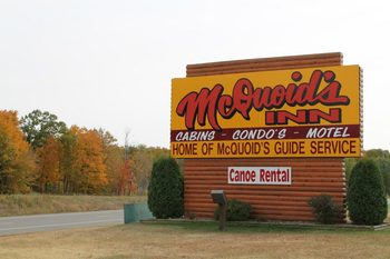 McQuoid's Inn & Event Center sign.