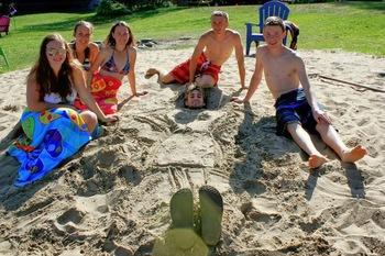 Family at Ogopogo Resort.