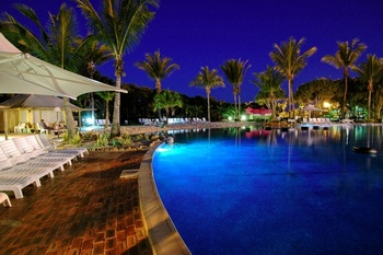 Outdoor pool at Capricorn International Resort.