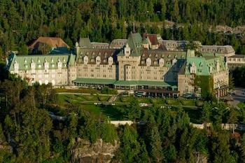 Aerial view of Fairmont Le Manoir Richelieu.