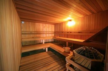 Dry cedar sauna at Edelweiss Lodge.
