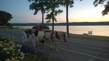Horse carriage at Edgewater Resort.