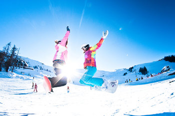 Snowboarding at Trailhead Lodge.