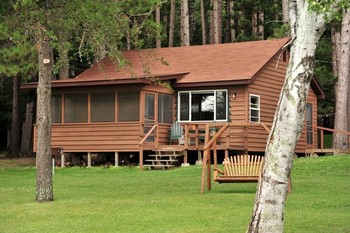 Cabins at Agate Lake Resort.