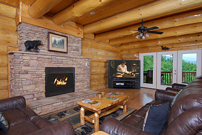 Sevierville Vacation Rentals Lodge Great Smoky Lodge 5 Bedroom 5 Bath Premier Plus Sleeps