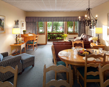 Suite interior at Woodloch Resort.