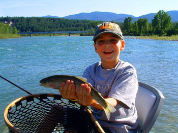 Fishing at Glacier Outdoor Center.