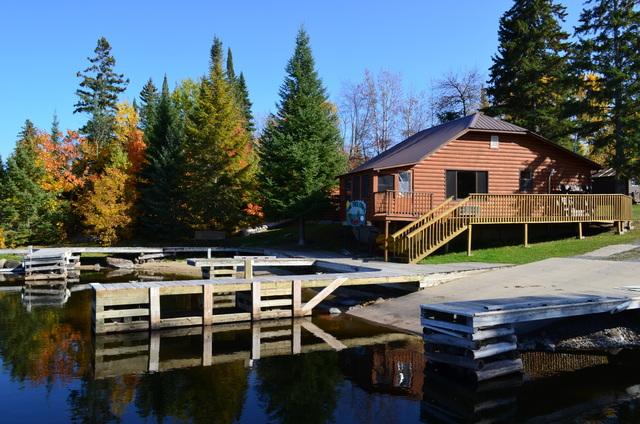 Resort exterior at Kabetogama Lake Association.