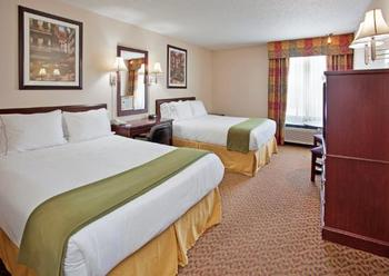 Double queen room at Holiday Inn Express Osage Beach.