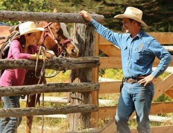 Horseback riding at Western Pleasure Guest Ranch.