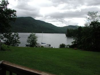 View of lake from Northern Lake George Resort.