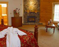 Guest bedroom at House Mountain Inn.