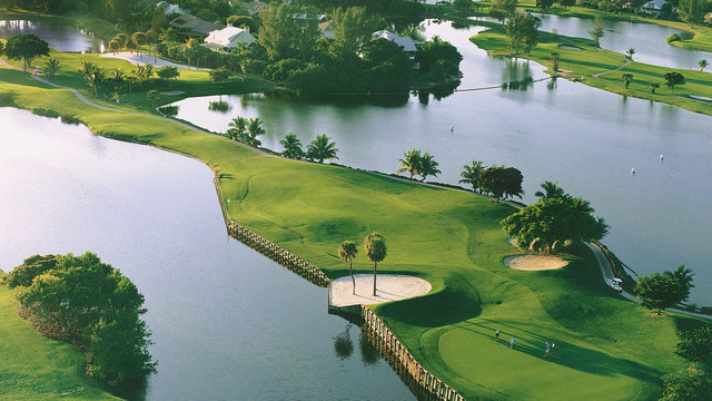 Aerial view of golf course at The Inns of Sanibel.
