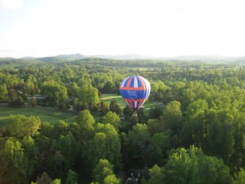 Hot air balloon ride at The Boar's Head.