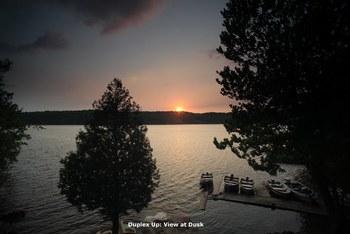 Lake sunset at Bob's Lake Cottages.