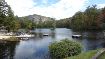 Lake view at High Hampton Inn.